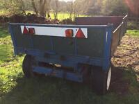 Small agriculture tipping trailer
