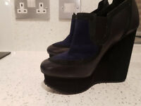 Aperlai ankle boots - shoes leather and fur women size 36 - worn twice