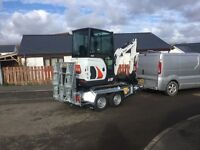 Bateson plant trailers, digger tractor,