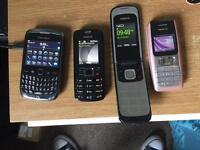 Mobile phones x4
