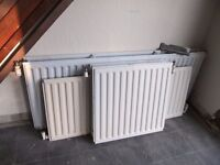 Radiators for central heating: Set of 6 to suit ave. size 3 bed house
