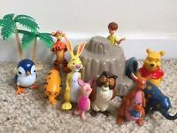 Winnie The Pooh and friends plastic toys