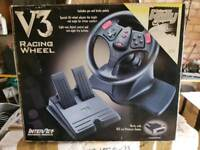Interact V3 PC steering wheel with pedals