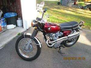 FIRST YEAR 1968 HONDA CL450 SCRAMBLER ALL REDONE