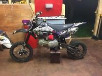 Stomp yx 140cc pit bike, crf 70 size, pitster pro, demon x