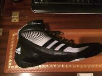 Adidas response 3 black &grey wrestling boots size 11.5 MMA