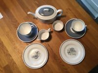 Susie Cooper 'Glen Mist' Bone China Tea for Two set - ideal wedding present!