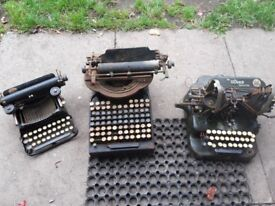 Antique typewriters x3