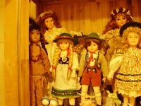 Selection of quality porcelain dolls, from France, Austria and the UK.