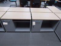 maple top under desk unit