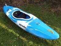 Pyranha Karnali Kayak (Large) with 2 x Buoyancy bags - very, very, good condition