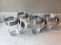 villeroy and boch new wave latte glasses x 4