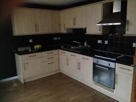 2 bedroom flat in landmark house heart of Bradford town centre , brand new carpets