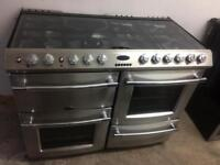 Stainless steel belling 110cm dual cooker grill & double fan assisted ovens with guarantee