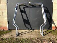 Rib A frame Nav bar for Rigid inflatable boat adjustable width, folding, with nav lights