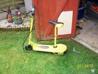 kids electric scooters yellow & pink - new belts collect ng6