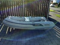 Dinghy, 2.4 AB Aluminium rib and Mercury 5hp 2 stroke outboard.