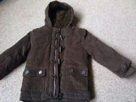 5-6 years brown duffle jacket never worn