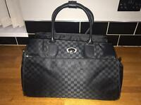 Large Fiore Black Weekender Travel Bag, Many Compartments, Full Luxury Lined Like new condition