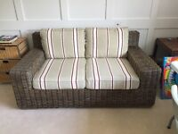 Wicker type sofa in perfect condition £1200 new