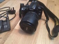 Nikon camera d5000 &lens 18-105mm Comes only WITH original Nikon charger &lens 18-105mm