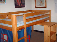 Children's cabin bunk beds with mattresses ---2 available