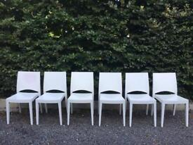 White dining chairs solid timber