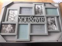 New 'YOU&ME' photo wall hanging frame.