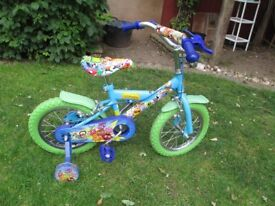 boy or girl bike 14 inch wheels moshi monster excellent condition