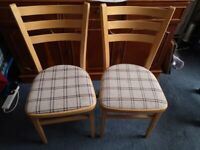 TWO KITCHEN/ DINING CHAIRS