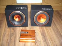 EDGE CAR Subwoofer x 2 with amplifiers 2x 400 Watts