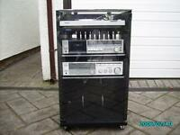 black ash stereo cabinet PLUS EXTRAS (have a look) price REDUCTION