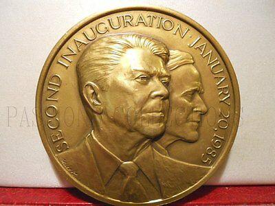USA: MÉDAILLE BRONZE RONALD REAGAN ACTEUR CINEMA PRESIDENT & BUSH - Reagan Bronzo