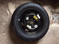 Car spare wheel and tyre (unused). Michelin 195/65 R15. Fits Citroen C4 and possibly other models.