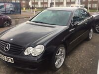 QUICK SALE 2004 Mercedez CLK 270 BARGAIN PRICE £2200 NEGOTIABLE WITH MOT AND SERVICE HISTORY