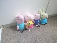Peppa Pig talking soft toys