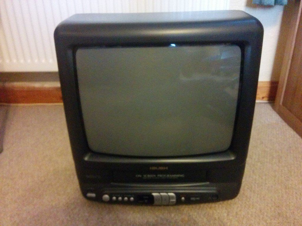 Bush 14 Inch Colour Tv With Integrated Vhs Recorder Remote Control