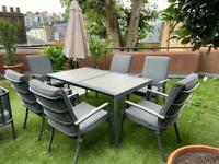 Luxury garden sofas seating set of 6 chairs included with table