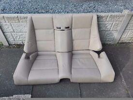 BMW 3 SERIES E46 CONVERTIBLE REAR/BACK SEAT CREAM LEATHER