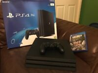 1tb PS4 pro and game