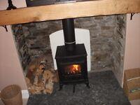 Multifuel stove, 7.5 kw.