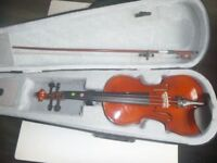 1/4 SIZE JUNIOR VIOLIN FOR 6-8 YEAR OLDS with CASE AND BOW