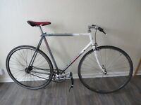 Giant Pacer single speed fixie road bike, Surly and Shimano dura ace components