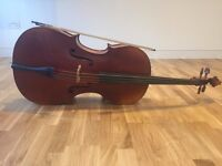 Full size Art Melody Cello for sale, good condition will require tuning. Bow and case included