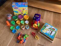 Play-Doh Playdough Bundle - Train, Kitchen Set...& Melissa & Doug 6 Way Wooden Cube Puzzle - VGC