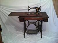 "Vintage ""Jones"" treadle sewing machine."