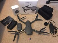 DJI MAVIC PRO 4K DRONE, SPARE BATTERY, POLARPRO ND'S, HARD CASE & MICRO SD CARDS