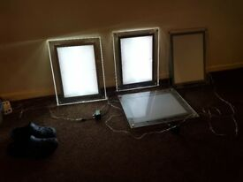 LED A3 poster frames x 4 for display catering etc