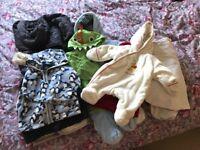 SNOWSUITS, JACKETS, SLEEPING BAGS