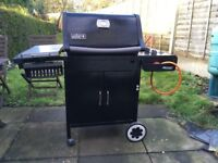 Weber 3 burner gas BBQ with side stove